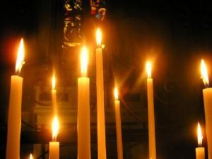 Cierge béni du 2 février en vue des calamités et trois jours de ténébres.