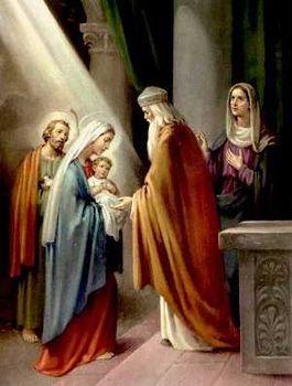 Jésus au temple et de la purification de la Vierge.
